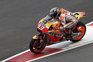 MotoGP Test Test Sepang, Day 2, Ore 15: il bagnato rallenta tutti, Marquez davanti