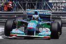 Mick Schumacher rijdt demo met Benetton B194 tijdens GP van België