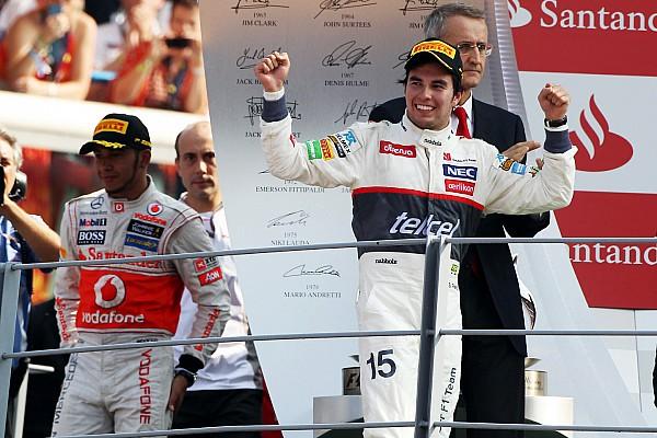F1 Cuando Pérez superó a los Ferrari para ser segundo en Monza