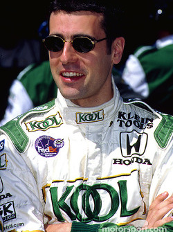 Dario Franchitti strikes a pose