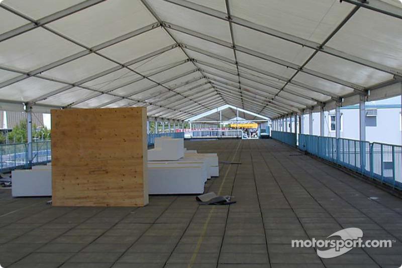 Inside VIP tent