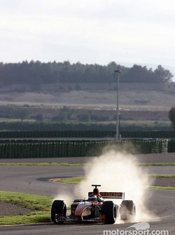 Jos Verstappen on the Valencia circuit