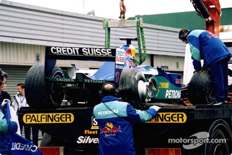 A crash for Kimi Raikonnen