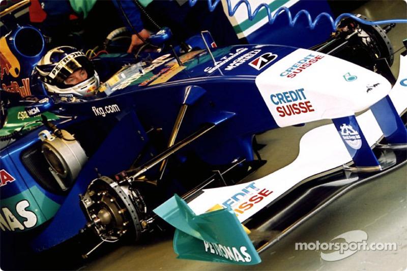 Kimi Raikonnen in the garage