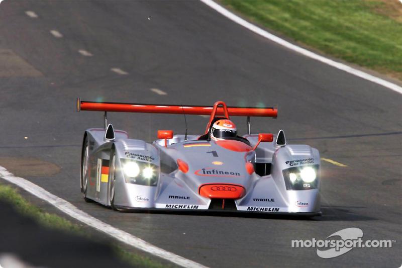 2001: Frank Biela, Tom Kristensen, Emanuele Pirro, Audi R8