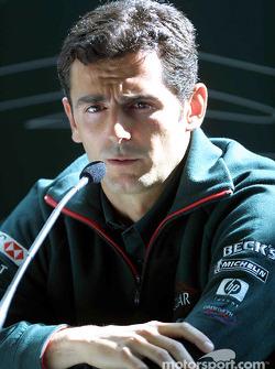 Pedro de la Rosa at the press conference