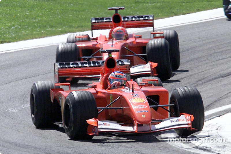 Rubens Barrichello ve Michael Schumacher