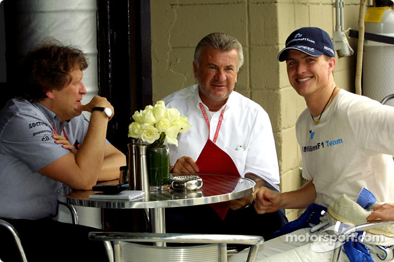 Norbert Haug, Willy Webber and Ralf Schumacher