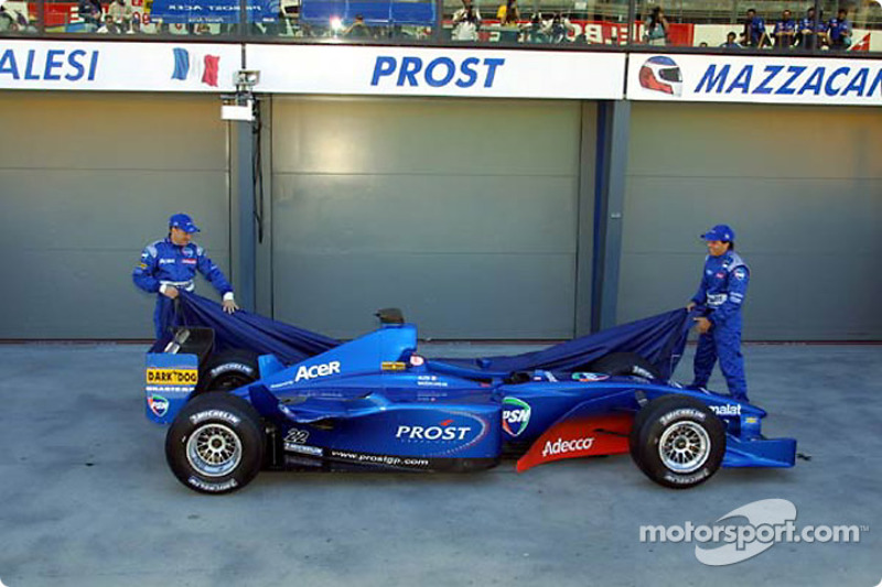 Jean and Gaston unveiling the Prost Acer AP04