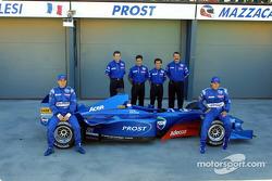 Jean Alesi, Henri Durand, Pedro Diniz, Alain Prost, Joan Villadelprat and Gaston Mazzacane