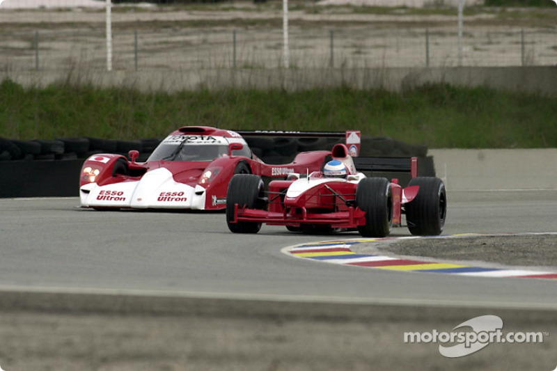 Toyota GT-One and Toyota Formula One on track at Paul Ricard
