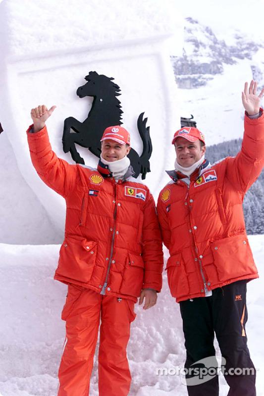 Michael Schumacher y Rubens Barrichello