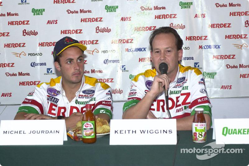 Herdez Bettenhausen Team press conference: Michel Jourdain and Keith Wiggins