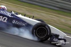 Tire working hard: Juan Pablo Montoya