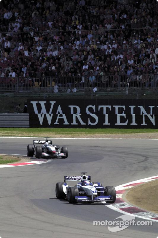 David Coulthard chasing Juan Pablo Montoya