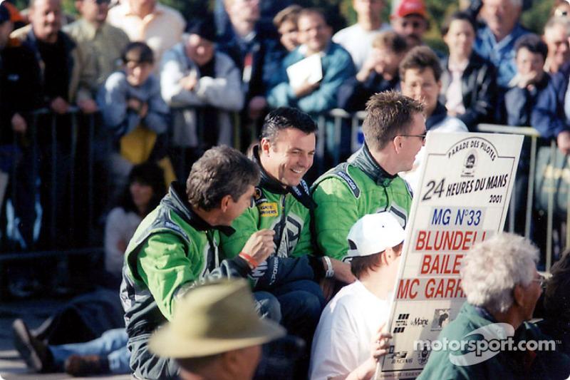 The MG boys: Kevin McGarrity, Mark Blundell, Julian Bailey