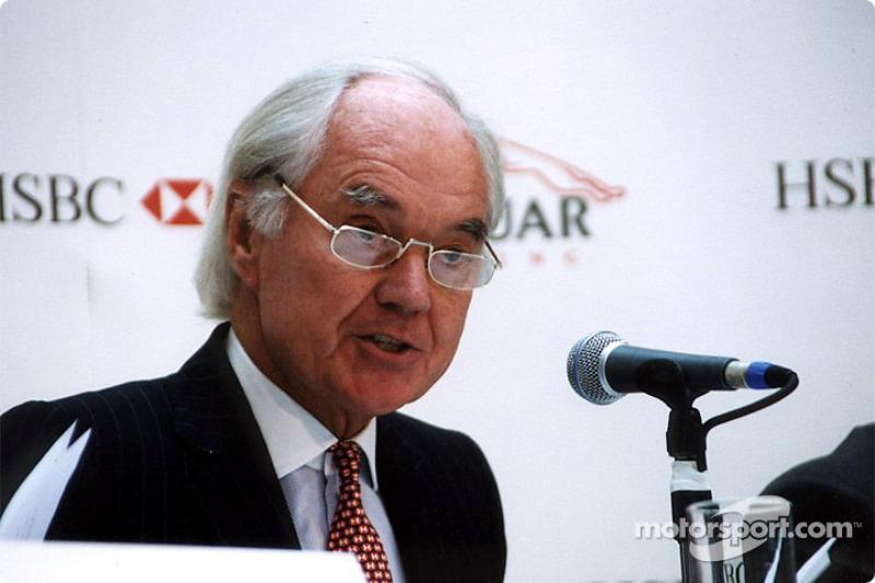 Jaguar Racing and HSBC renew sponsorship: Sir John Bond
