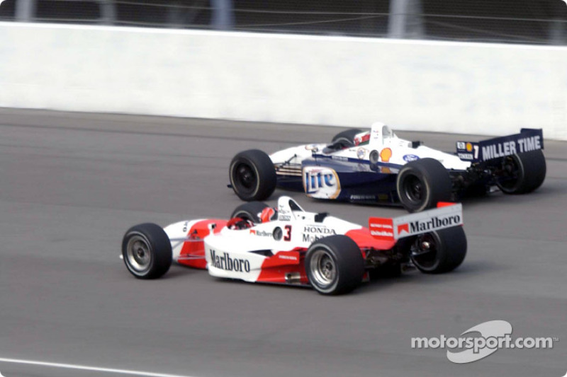 Helio Castroneves and Max Wilson
