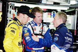 Matt Kenseth, Jeff Burton and Mark Martin