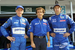 Luciano Burti, Alain Prost et Heinz-Harald Frentzen