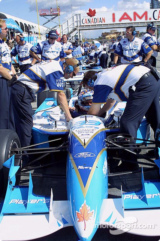 Alex Tagliani getting ready for qualifying