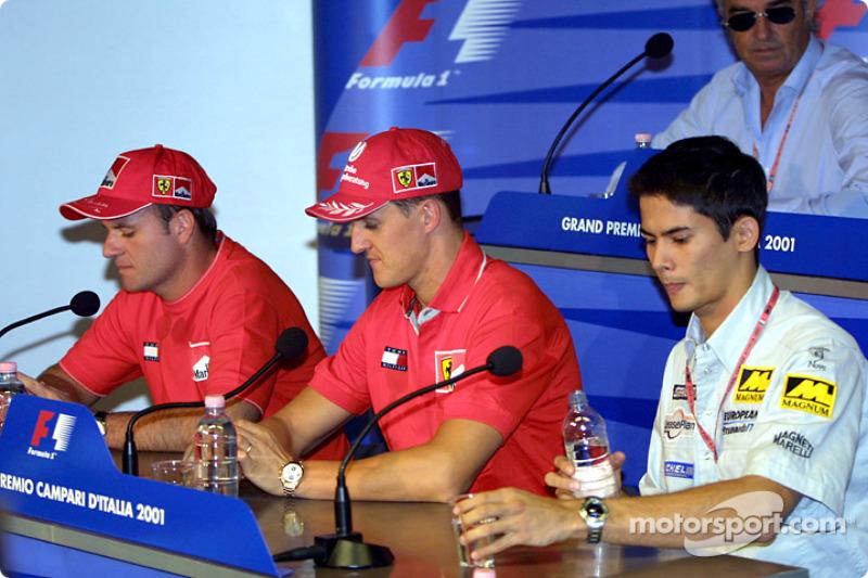 Thursday press conference: Rubens Barrichello, Michael Schumacher and Alex Yoong