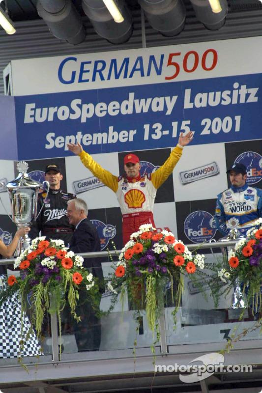 The podium: Max Papis, Kenny Brack and Patrick Carpentier