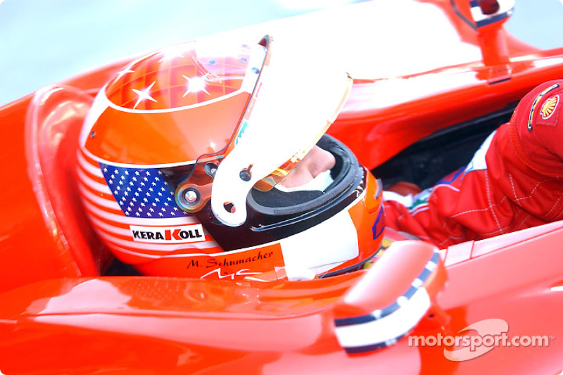 On the grid: Michael Schumacher