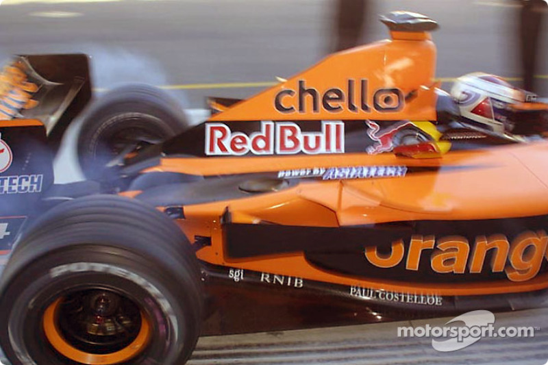 Jos Verstappen leaving the pits