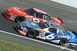 Mark Martin passes Dale Earnhardt Jr.