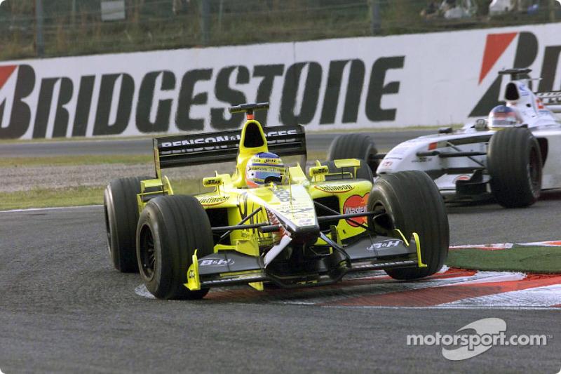 Jarno Trulli and Jacques Villeneuve