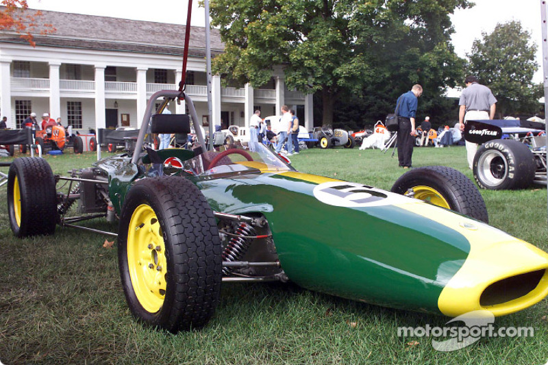A 1965 Ford powered Lotus 51, one of 190 vintage Ford racing cars on display