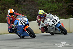 Tim Carrolln holds off a late braker