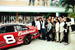 Dale Earnhardt Jr. announcing a new sponsor: Drakkar Noir
