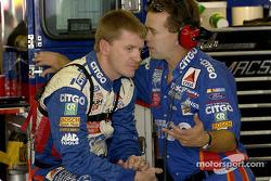 Jeff Burton y su jefe de equipo, Frank Stoddard
