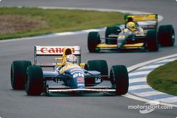 Nigel Mansell y Christian Fittipaldi