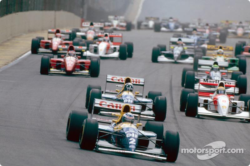 Départ : Alain Prost, Damon Hill et Ayrton Senna