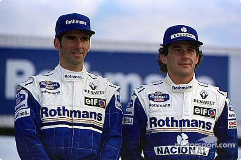 Damon Hill y Ayrton Senna