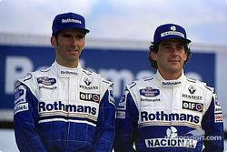 Damon Hill et Ayrton Senna