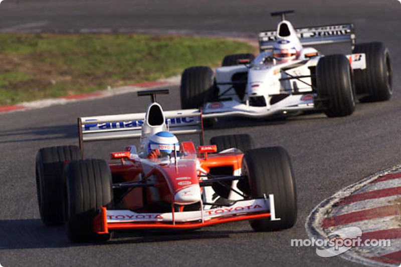 Mika Salo and Olivier Panis