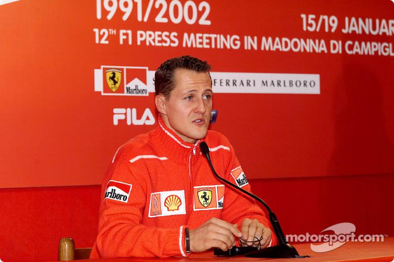 Conférence de presse avec Michael Schumacher