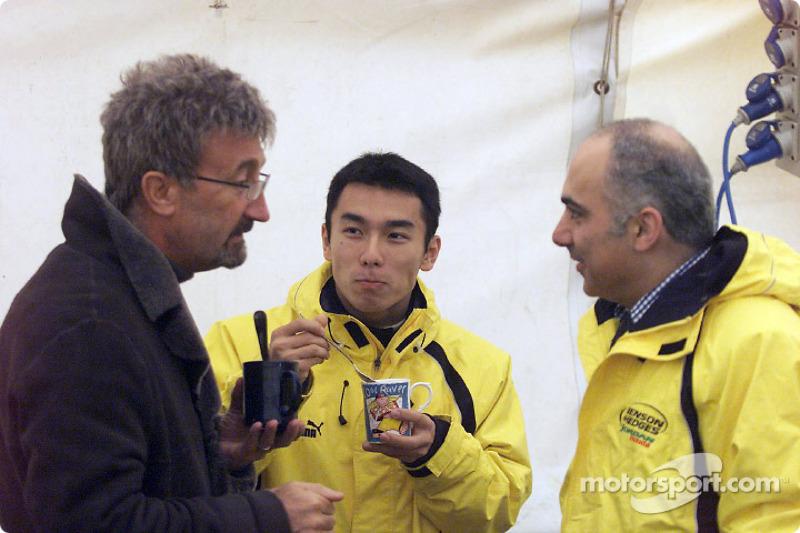 Eddie Jordan and Takuma Sato