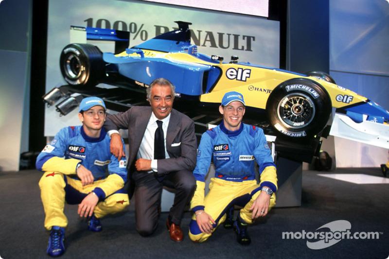 Презентация Renault F1 в Париже, 2002 год