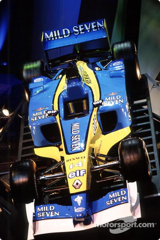 La nouvelle Renault F1 R202 de la saison 2002