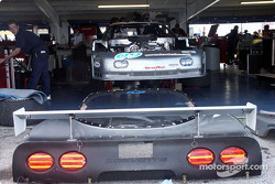 Corvette in the garage area