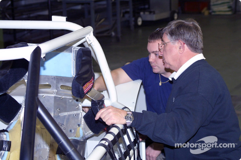 IROC President and CEO Jay Signore working on a car