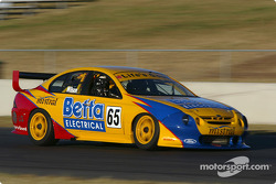 New V8 Supercar racer Max Wilson, of Brazil, tests the Ford Falcon