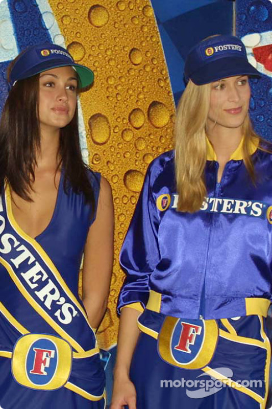 Presentation of the Foster's Grid Girl outfits for the 2002 Foster's Australian Grand Prix