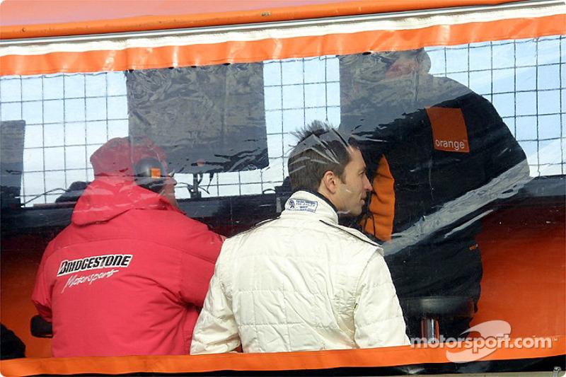 Heinz-Harald Frentzen on pitwall