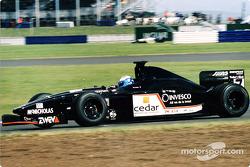 David Saelens, European Minardi, avant son accident en essais